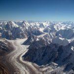 Baltoro glacier from air