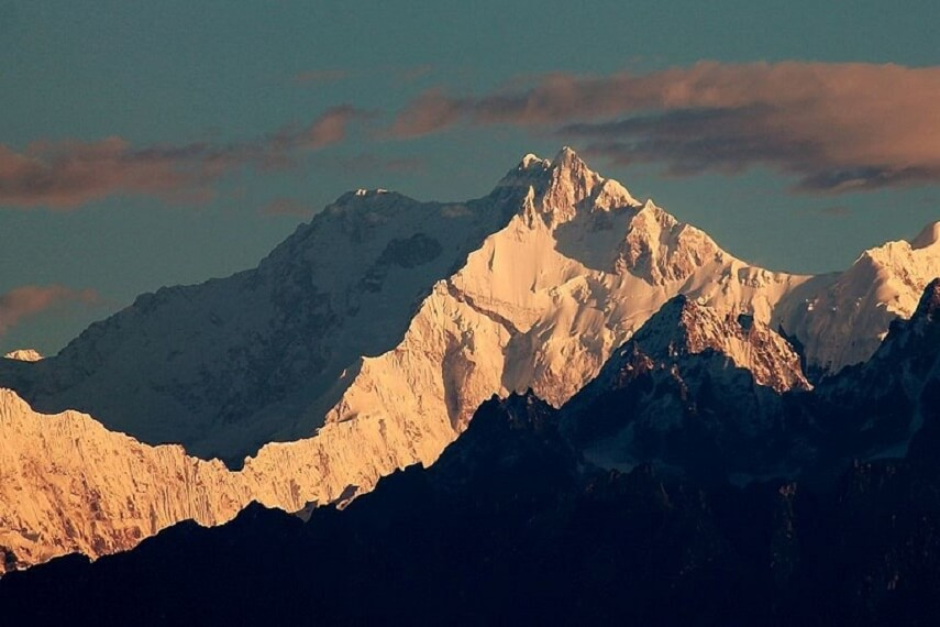 View Of Kanchenjunga From Chotta Mangwa