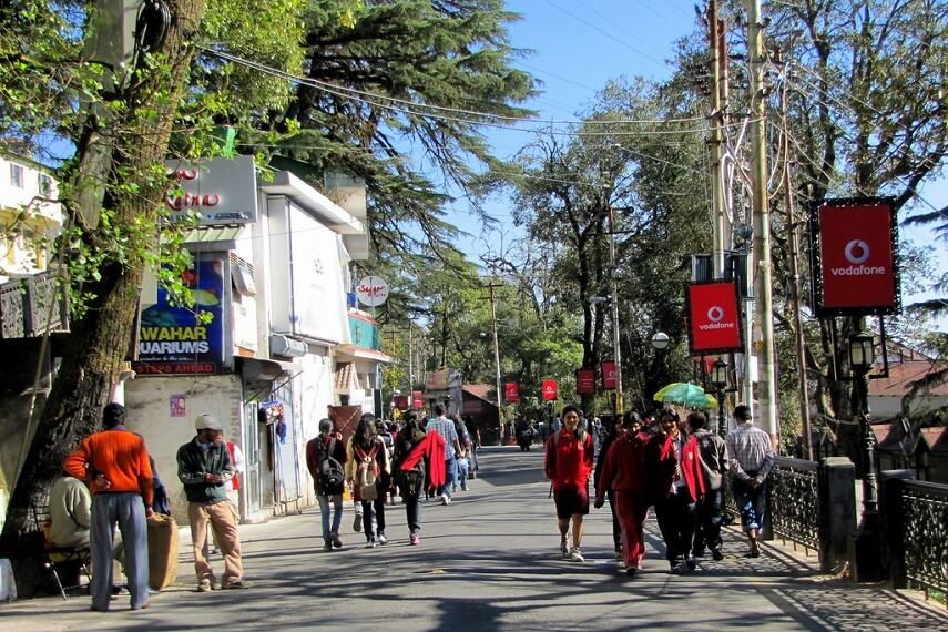 The Mall Road Mussoorie