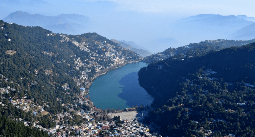 View Of Nainital From Naina Peak