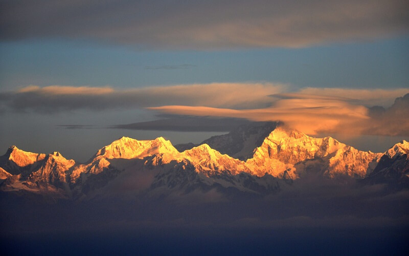View of Kanchenjunga from Tiger Hill during Sunrise