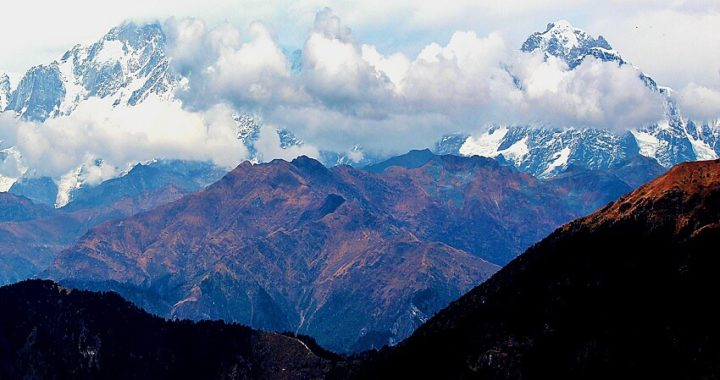 Cloudy Foothills Of Chopta Village in Uttrakhand