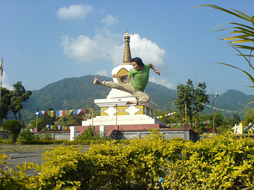 A Man Practising Kung Fu in Ita Nagar